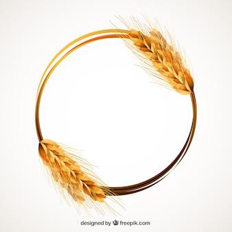 小麦の耳フレーム