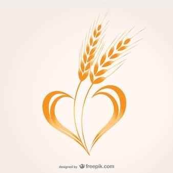 Wheat heart composition vector