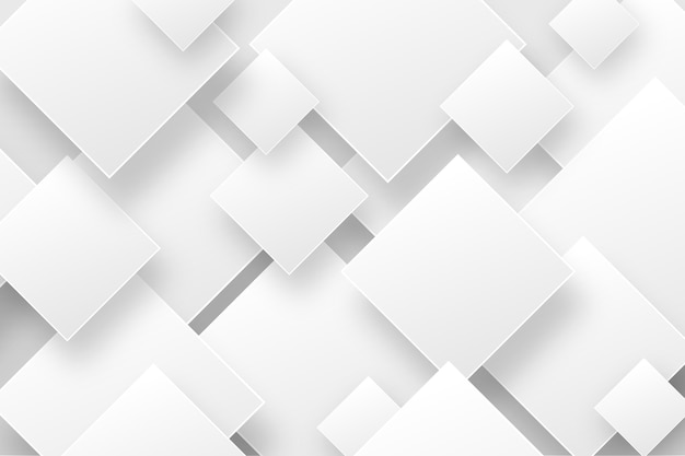 White abstract background in 3d paper style