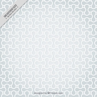 White abstract shapes pattern
