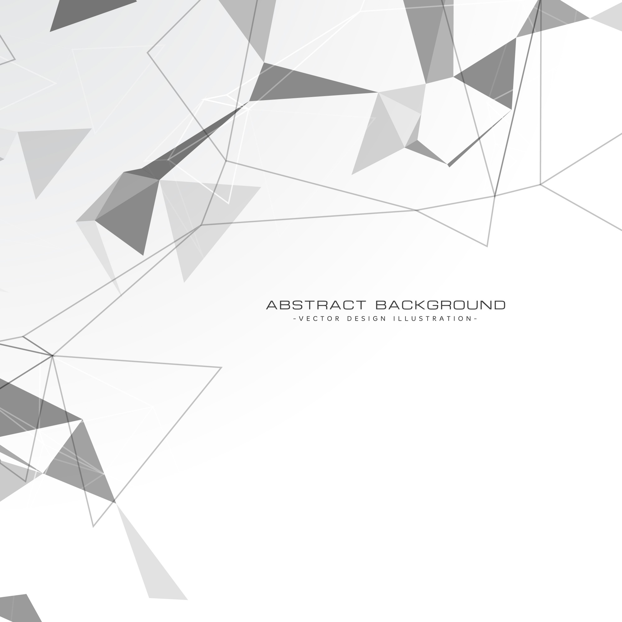 White abstract triangles background