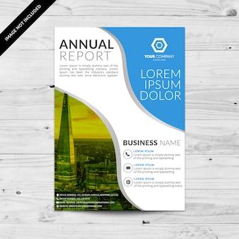 Белая и синяя бизнес-брошюра