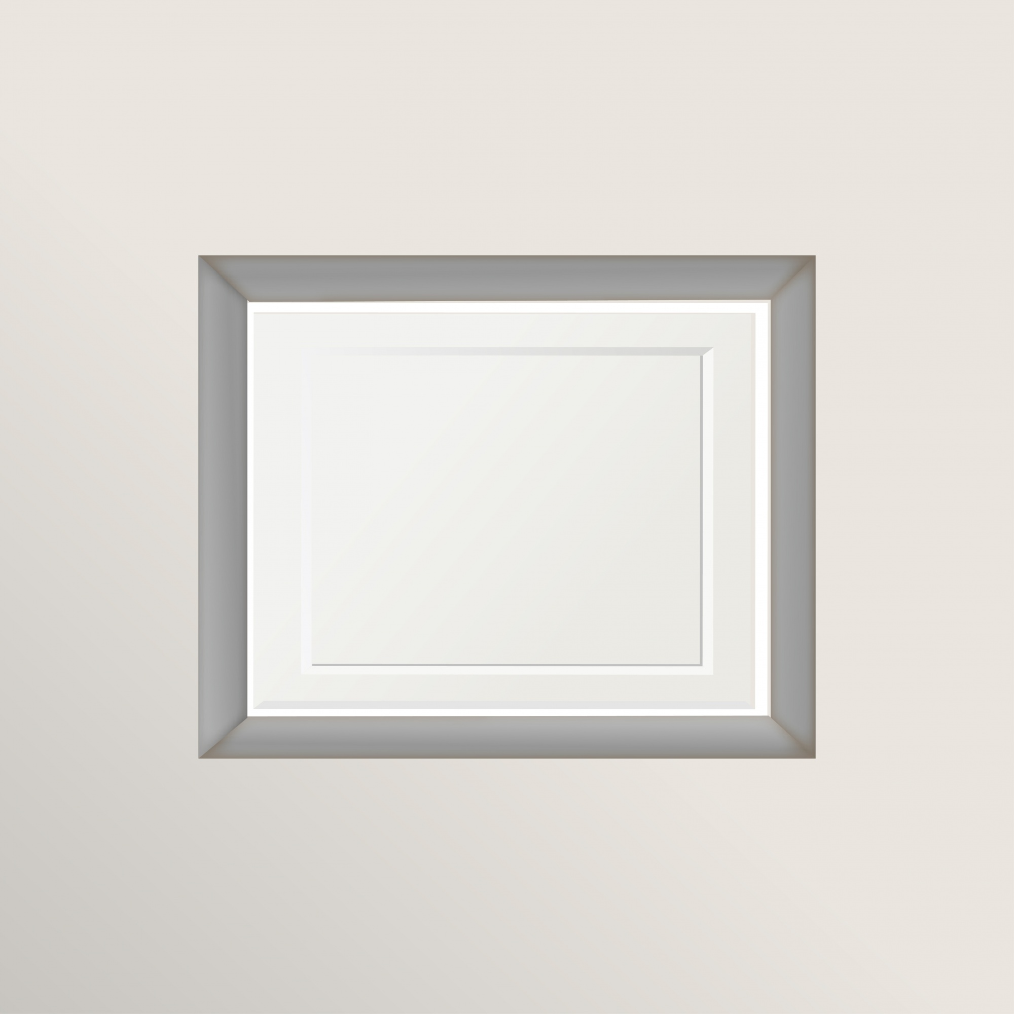 White and gray frame