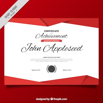 White and red geometric certificate