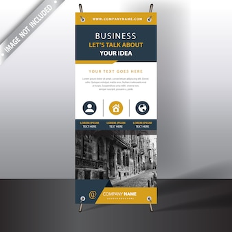 White and yellow business brochure