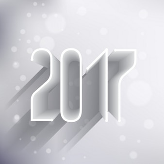White background for new year with 3d numbers