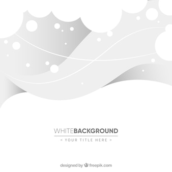 White background of waves and circles