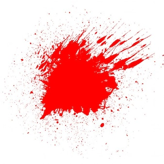White background with a bloodstain for halloween