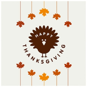 White background with a turkey for thanksgiving day