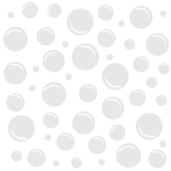 White background with bubbles