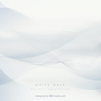 White background with elegant waves