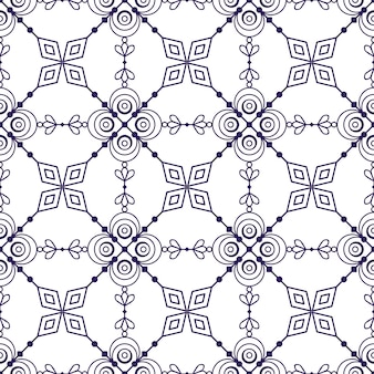 White background with ethnic geometric pattern