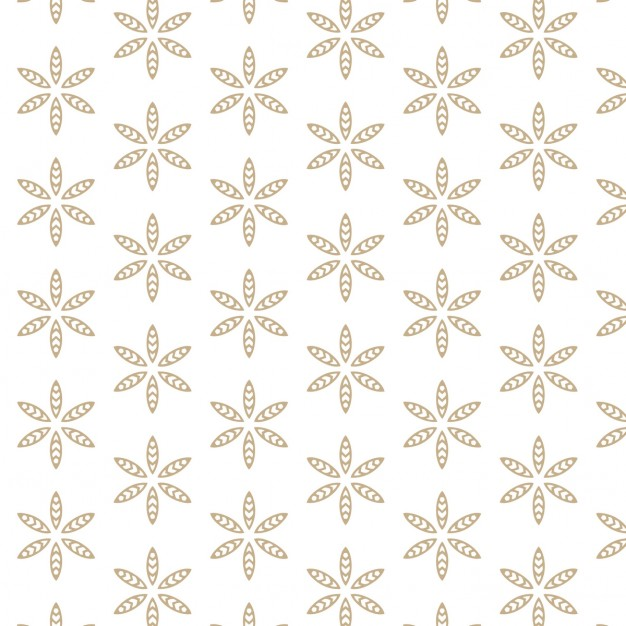 White background with flower pattern