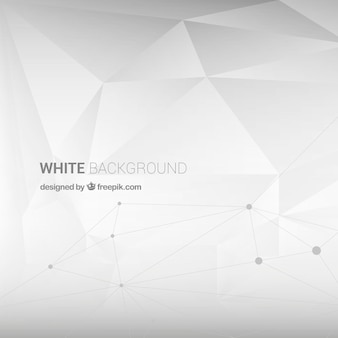 White background with geometric shapes
