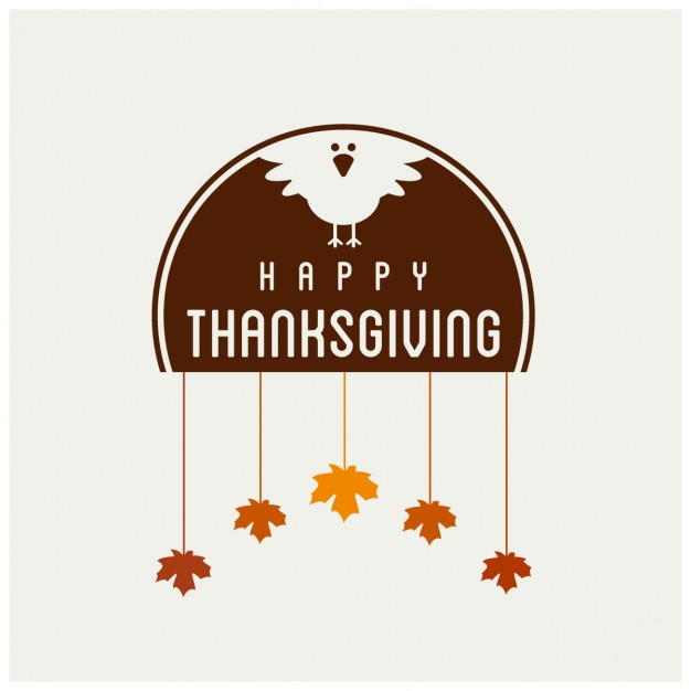 White background with leaves for thanksgiving day