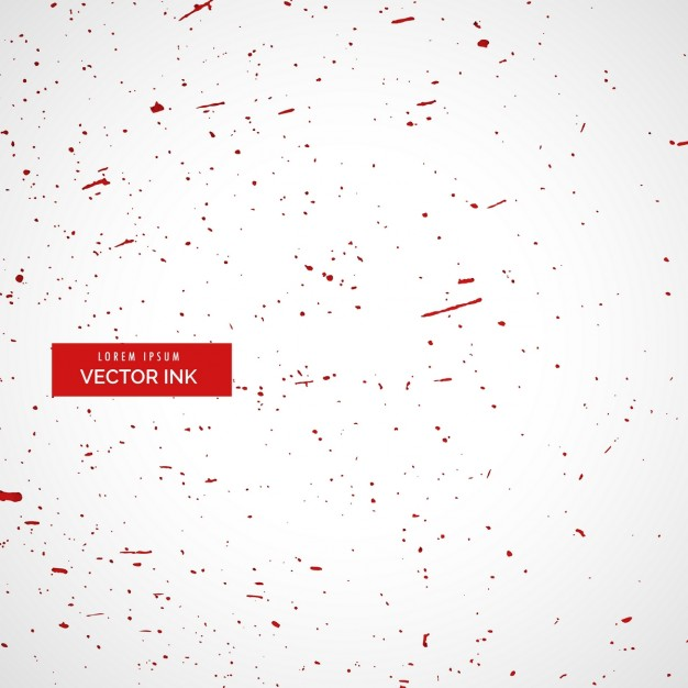 White background with red ink splatter