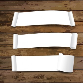 White banners collection