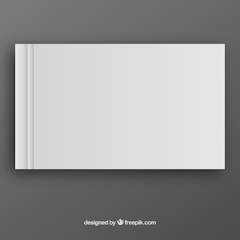 White book template in front side