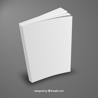 White book template in perspective