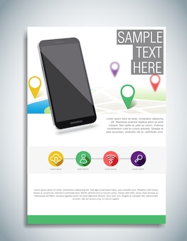 White brochure template