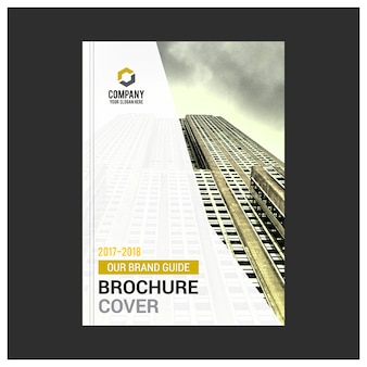 White business brochure with yellow details