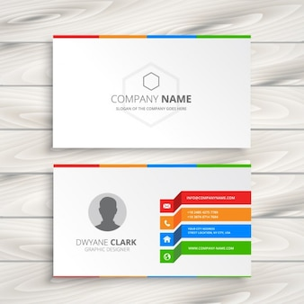 White business card template