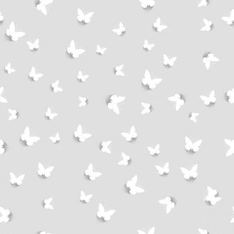 White butterflies pattern design