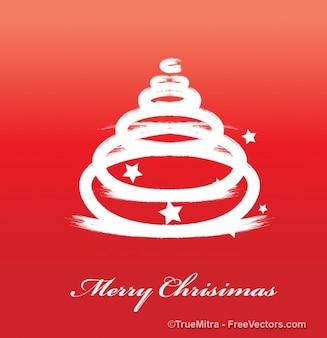 White Christmas tree vector background