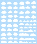 White clouds collection