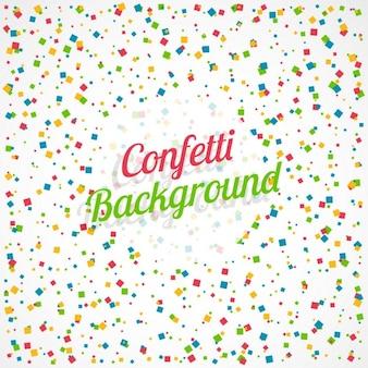 White confetti background