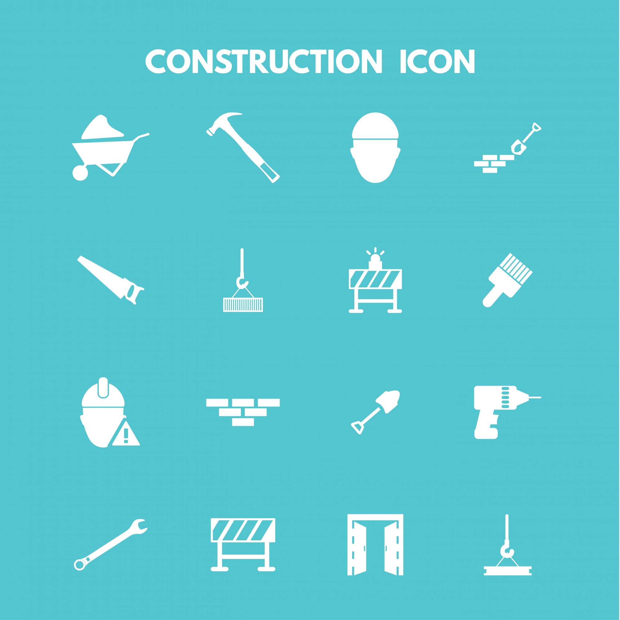 White construction icons