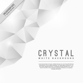 White crystal background