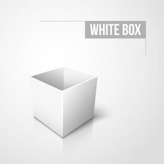 White empty box design