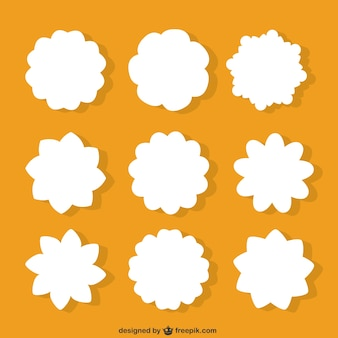 White flowers shapes