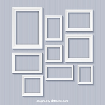 White frames collection