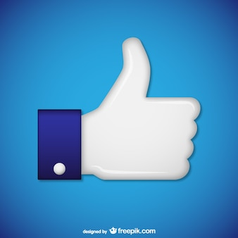 White hand with thumb up vector
