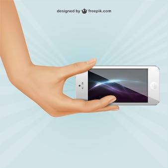 White iphone illustration