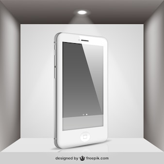 White Iphone with spotlight