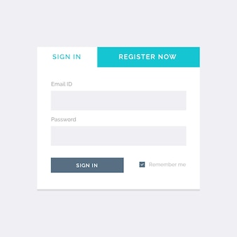 White login template on a gray background