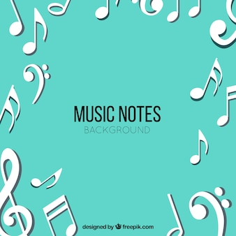 White musical notes background