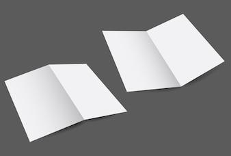 White paper flyer design