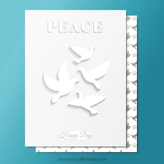 White peace card