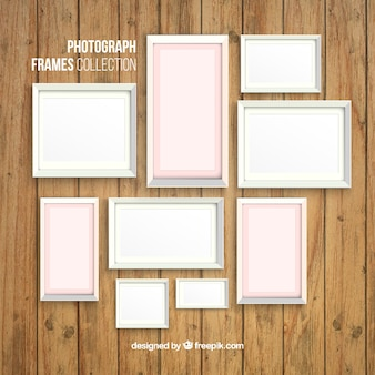 White photography frames set