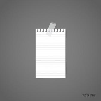 White piece of paper design