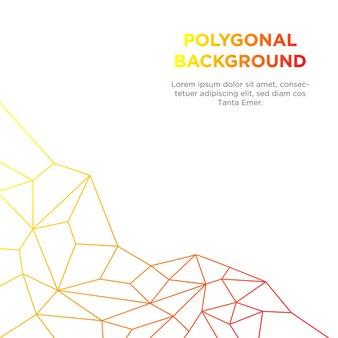 White polygonal background