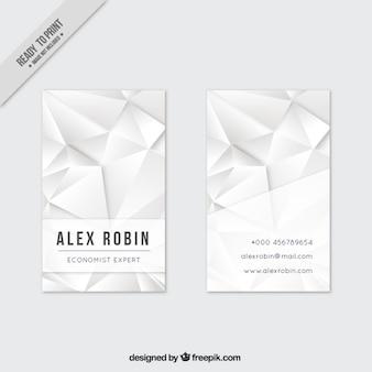White polygonal business card