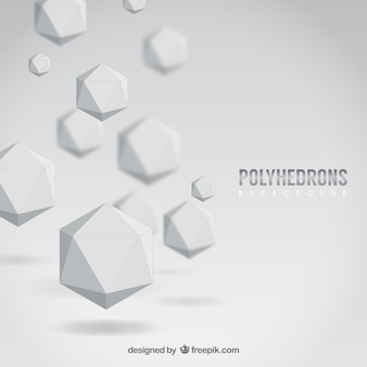 White polyhedrons background
