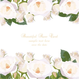 White roses card design