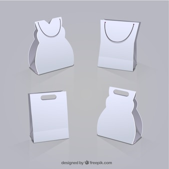 White shopping bags