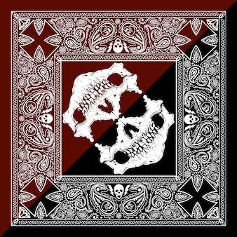 White skull background